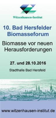 10. Bad Hersfelder Biomasseforum 2016