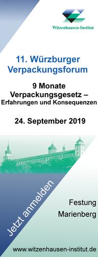 11. Würzburger Verpackungsforum 2019